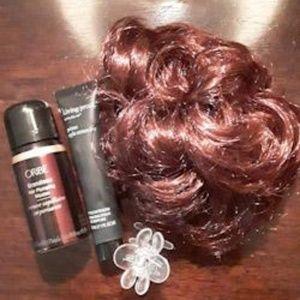 Bright red scrunchie hairpiece
